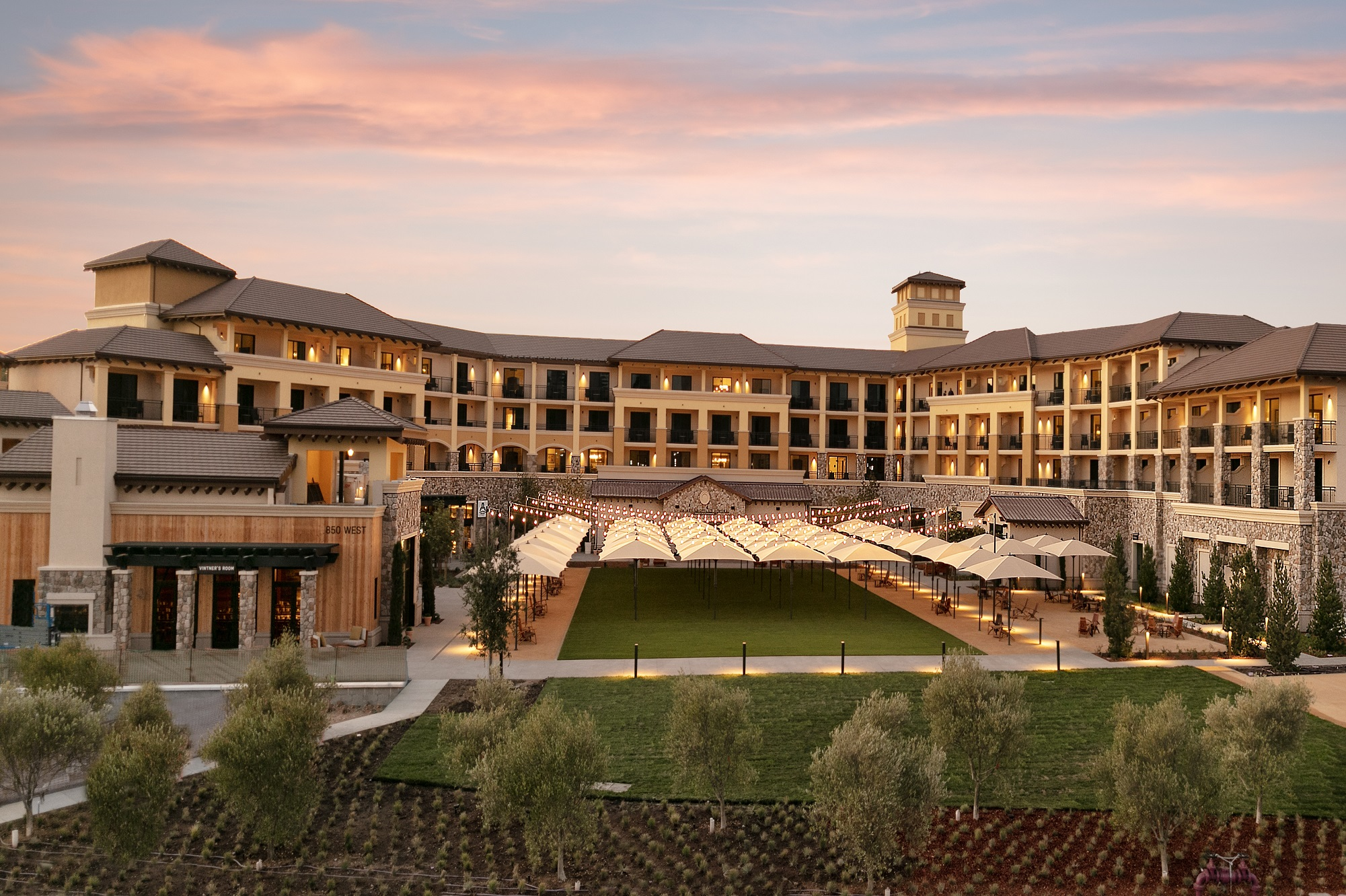 Our hotel, while in Napa, is at the lovely Vista Collina Resort. - Napa Valley #napa