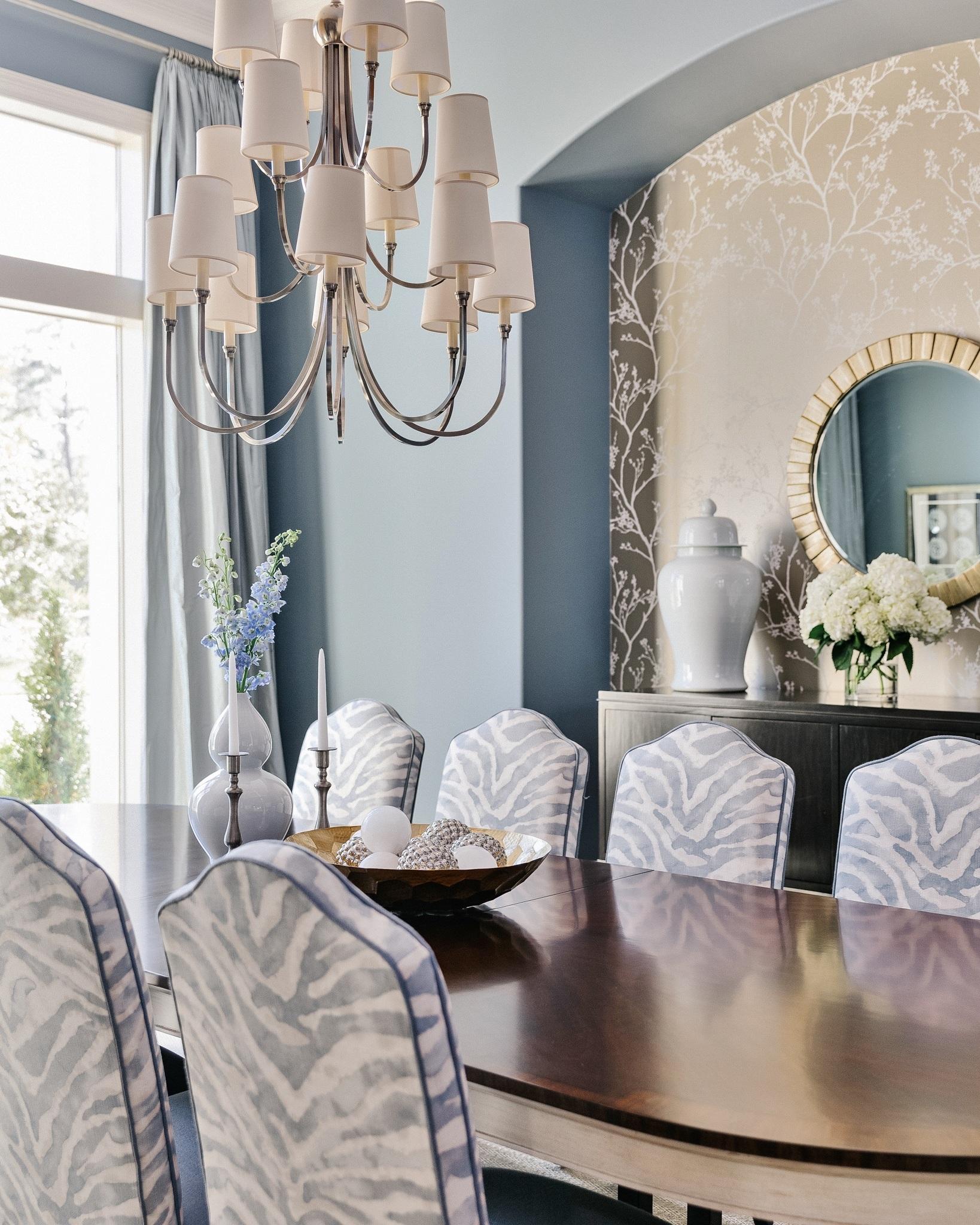 Formal Blue Dining Room