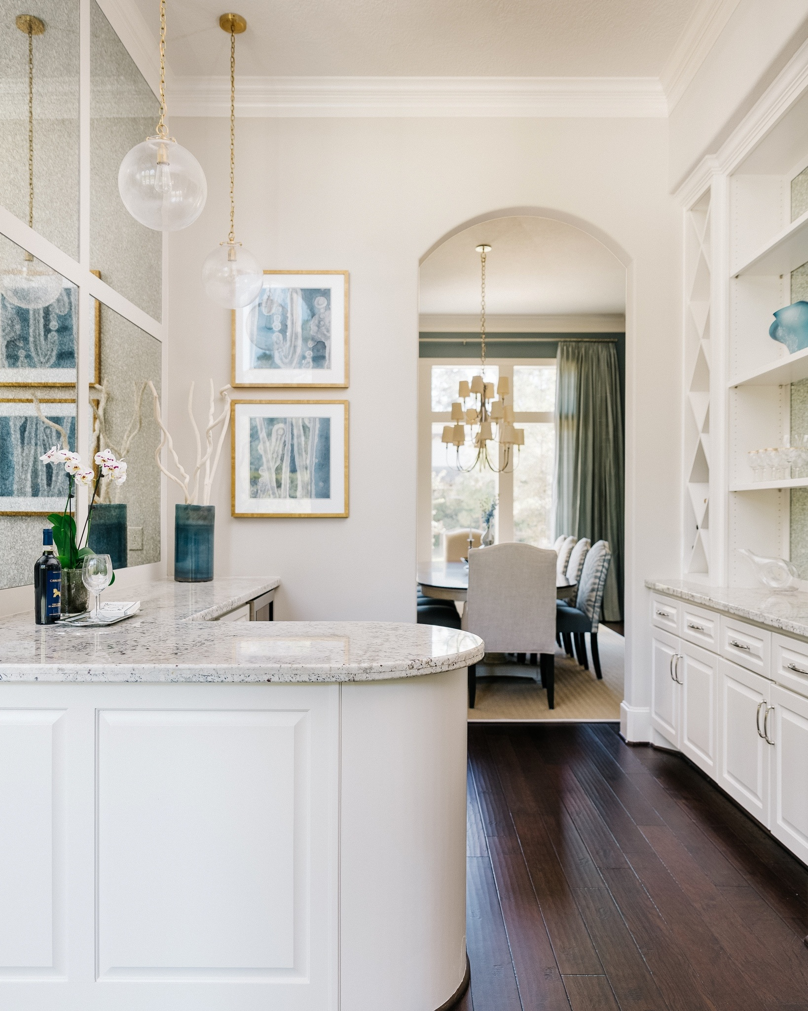 Butler's Pantry w/antique mirrors