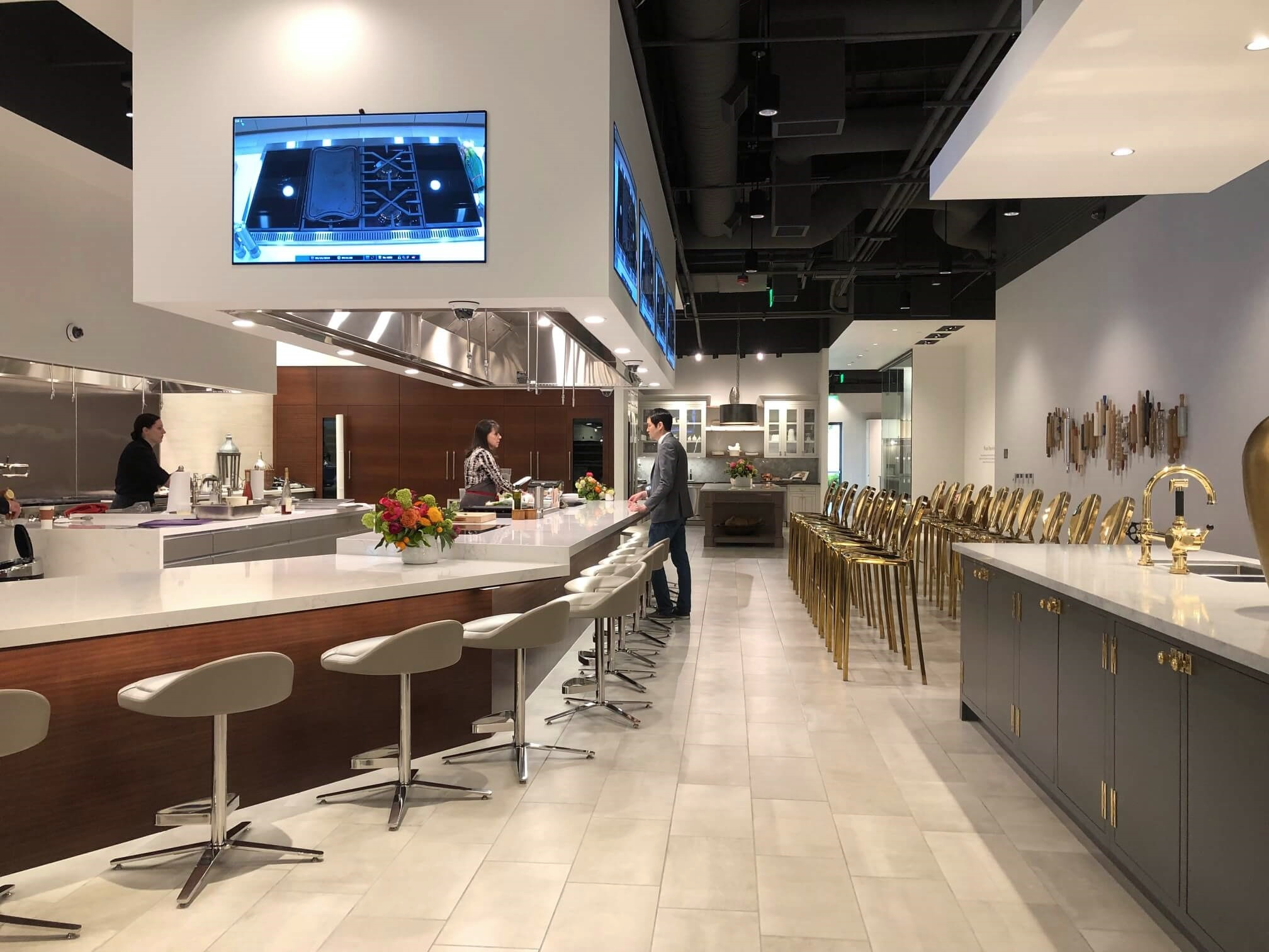 Demonstration kitchen at SKS Appliances Experience and Design Center, Napa