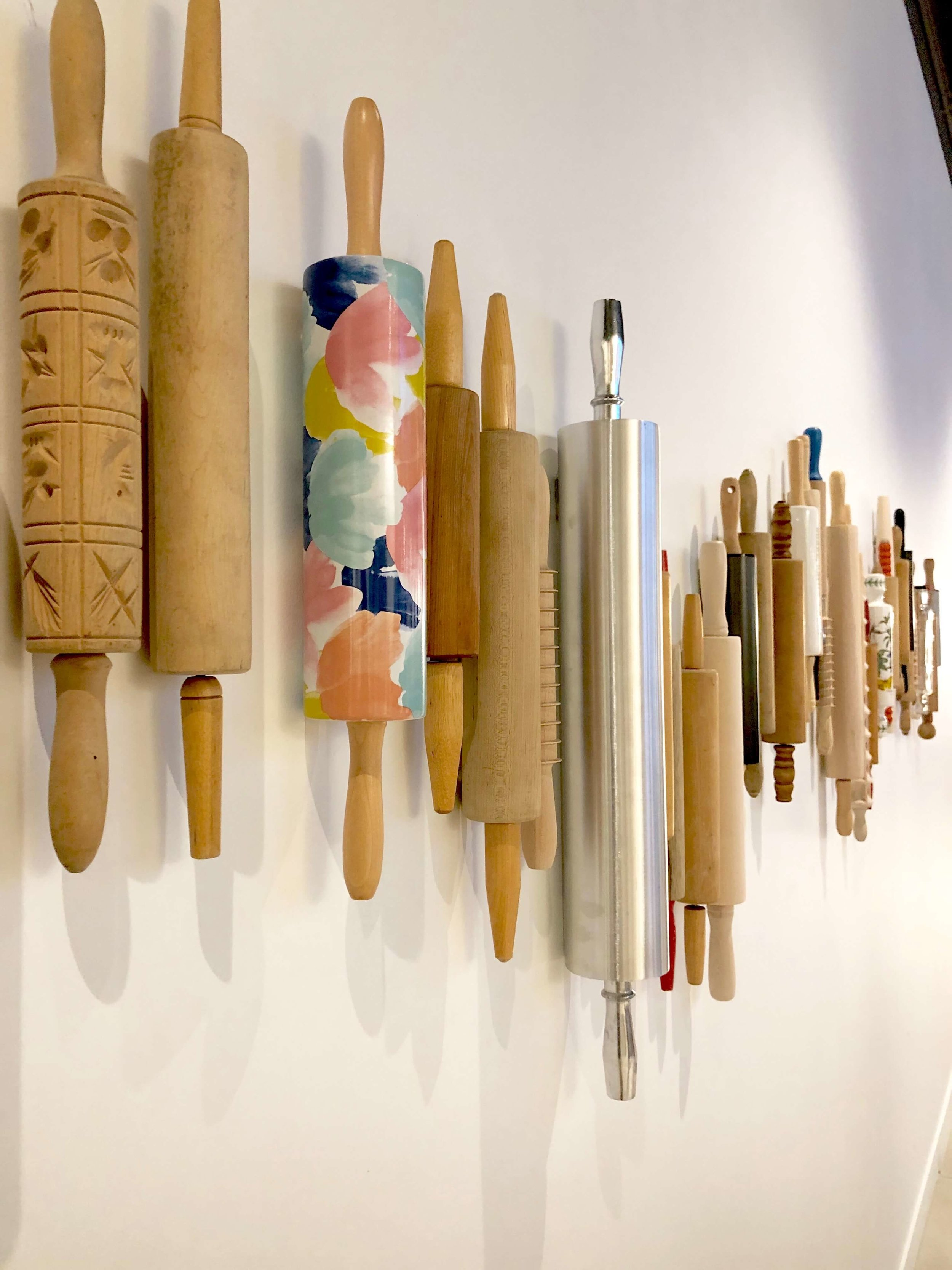 Rolling pins wall decor - SKS Appliances Experience and Design Center, Napa