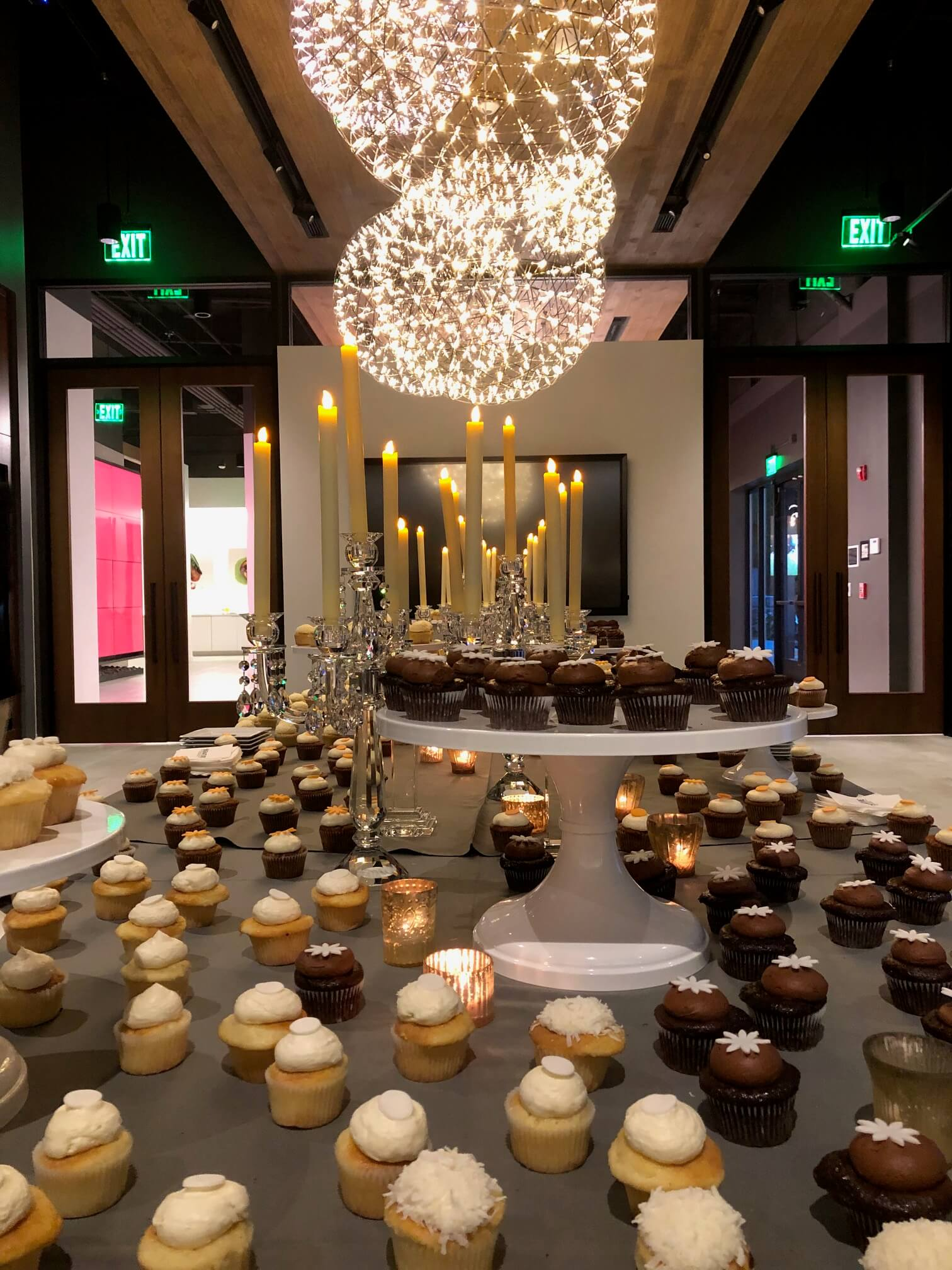 Cupcake table display after dinner one night at the SKS Appliances Experience and Design Center, Napa