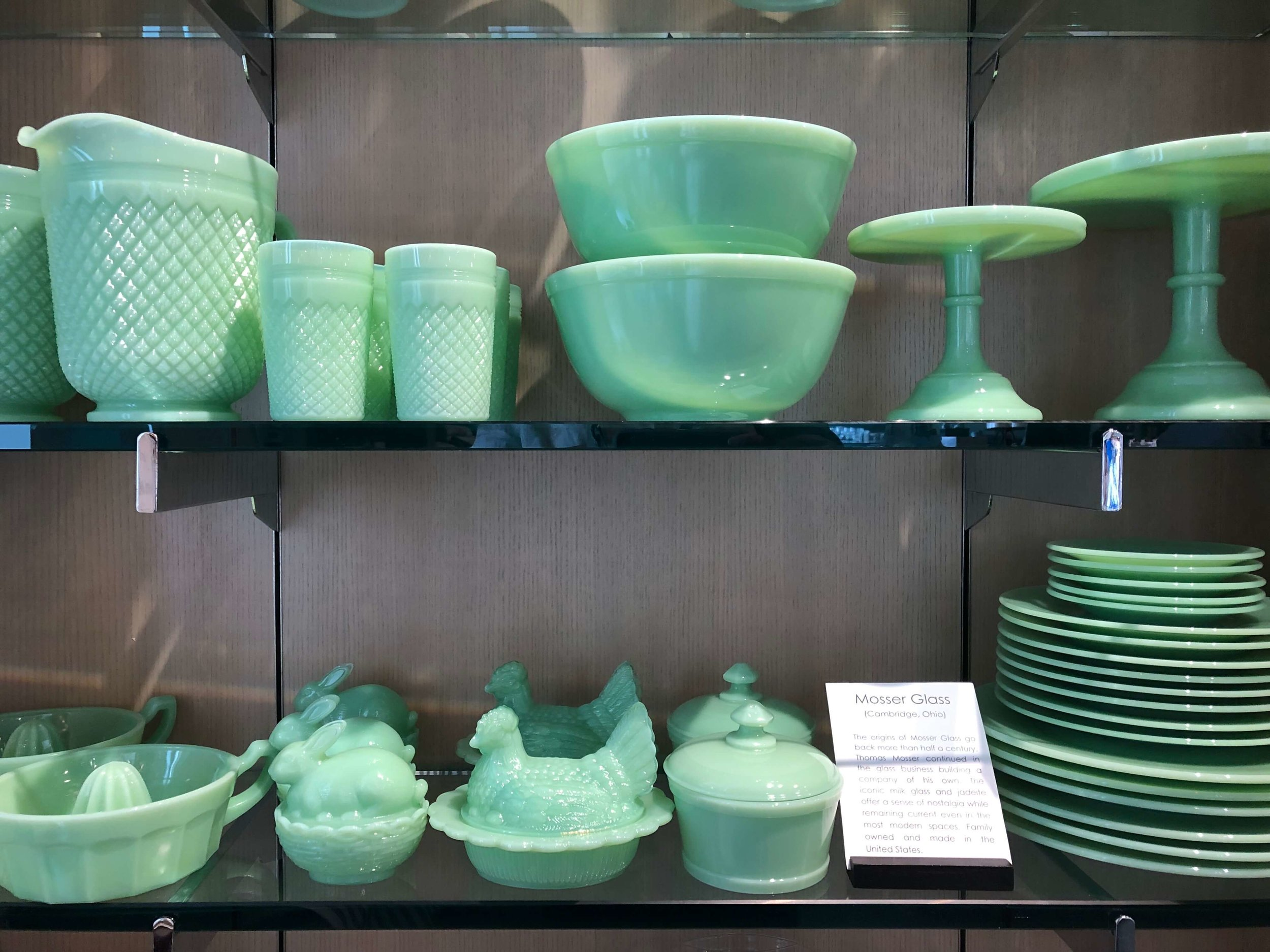 Mosser Glass at the gift shop in the Culinary Institute of America Copia | Napa, California