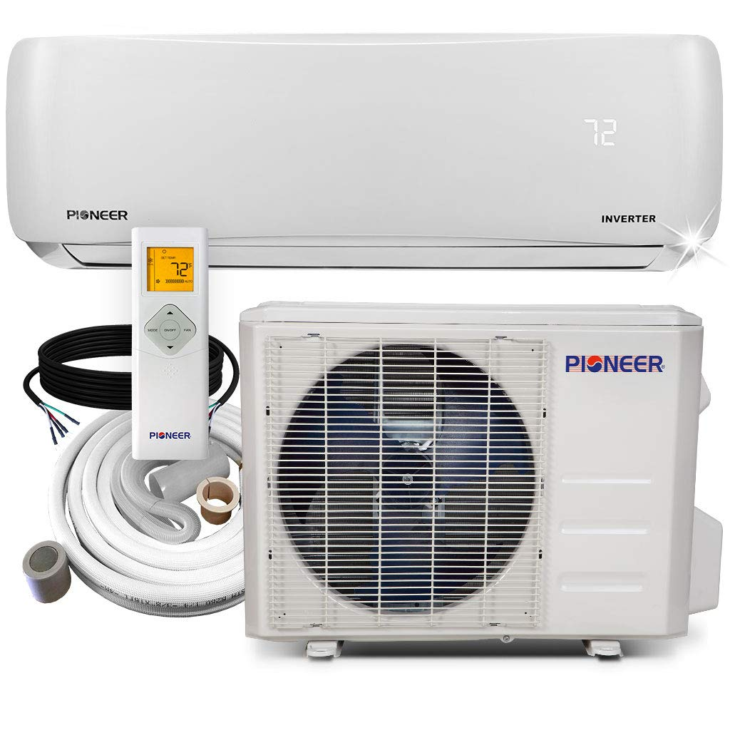 Pioneer mini split air conditioner keeps a room cool in summer and warm in winter.