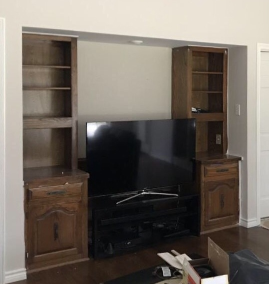BEFORE - Cabinetry was designed for a deep picture tube tv #tvcabinet