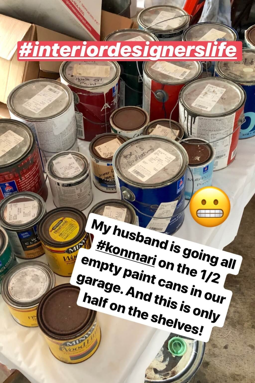 Don't worry, we recycled. This is from almost 20 years of living in this house and well, I like to experiment around here sometimes. :-/