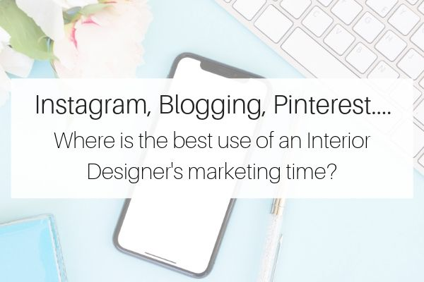 Instagram, Blogging, Pinterest for Interior Designers