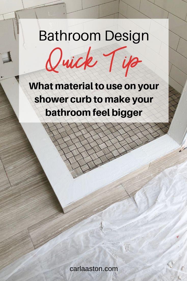 Bathroom Design Quick Tip - Shower Curb Material