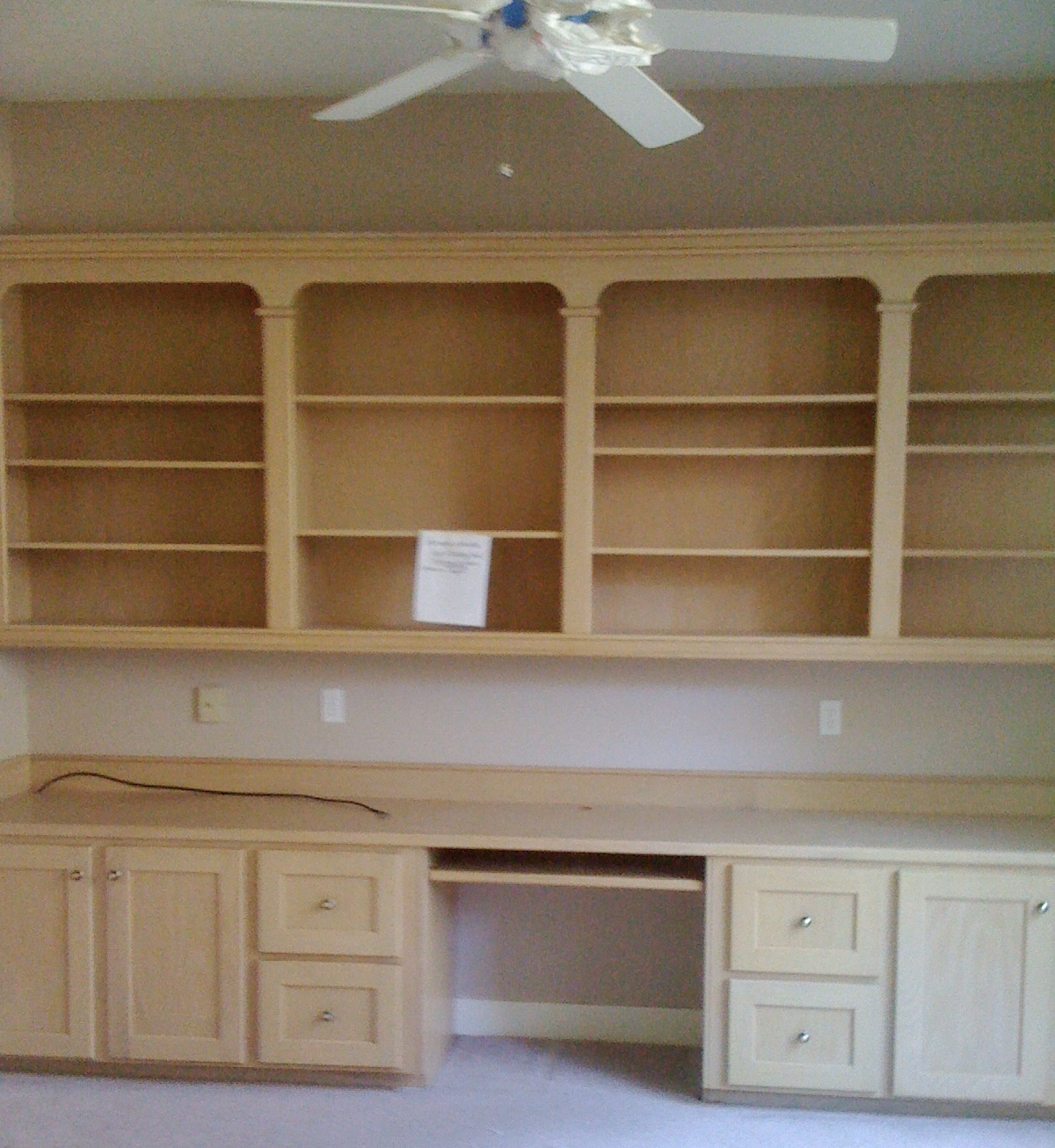 BEFORE - Home office built-ins