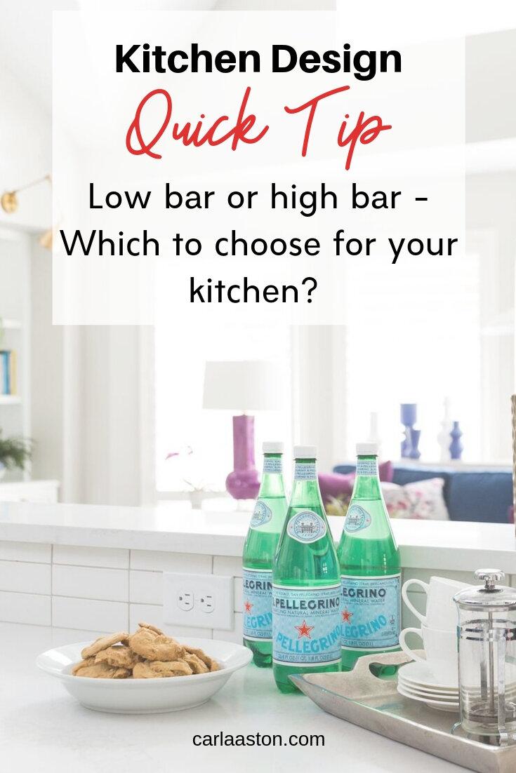 Kitchen Design Quick Tip - Low Bar Or High Bar