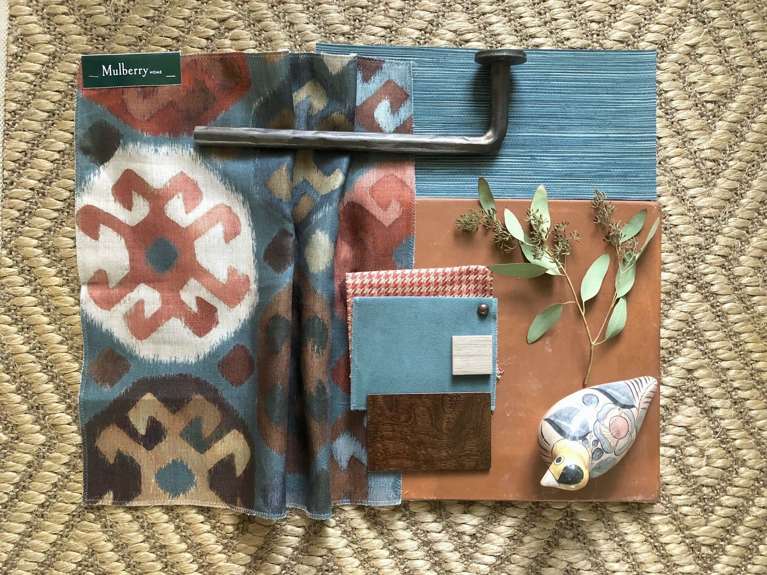 COLOR PALETTE CRUSH - Terracotta and turquoise color palette for home decor and furnishings to warm up your home for fall. #colorpalette #colorinspiration
