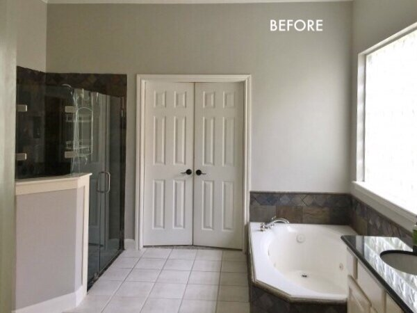 BEFORE AND AFTER - A Master Bath And Bedroom Remodel That ...