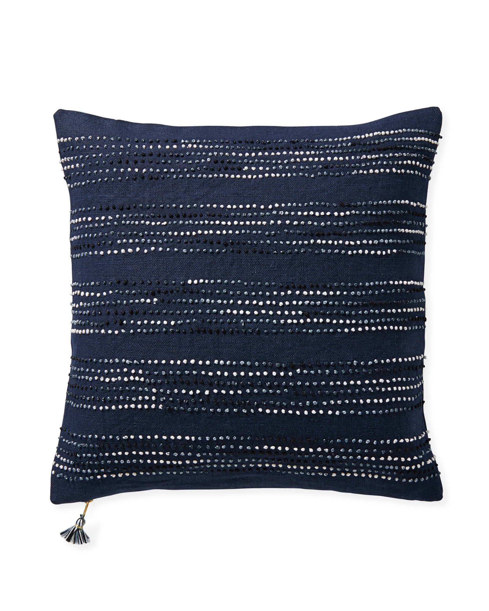 Navy pillow for sectional sofa from Serena and Lily - Living Room Design Consultation #pillows #livingroomideas