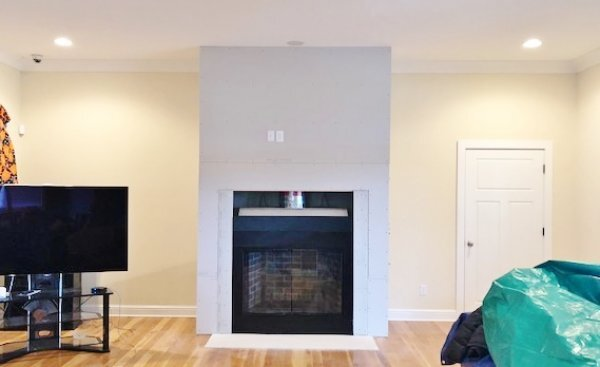 Fireplace Wall Remodel