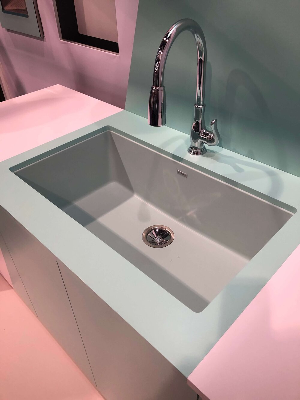 This new color of mint green was added to their collection. #kitchensink