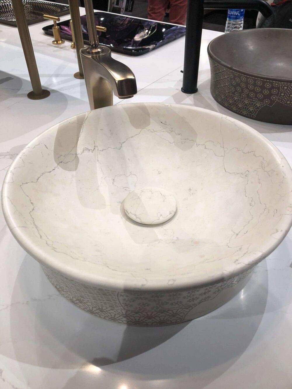 Etched vessel sink from Kohler