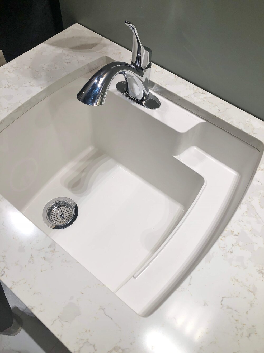 Kohler extra deep utility sink, perfect for just about anything, even pets.