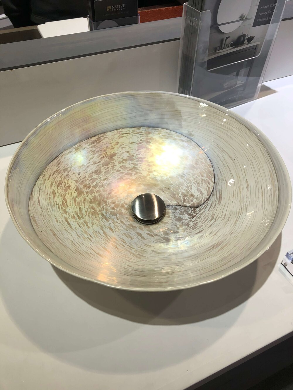 Murano glass vessel sink by Native Trails