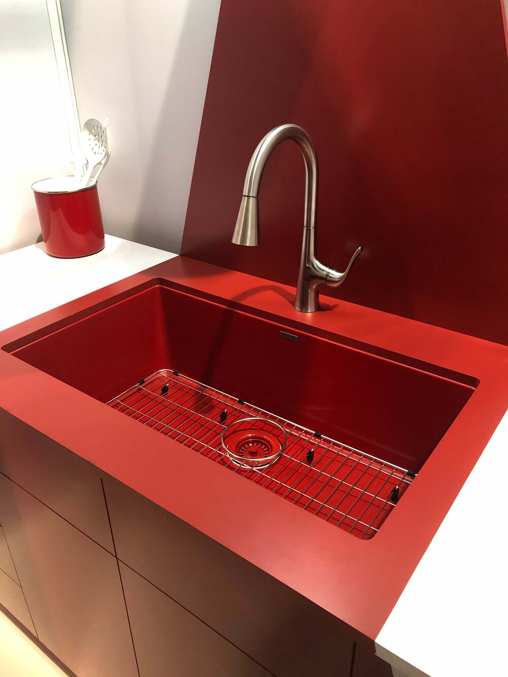 Colorful red sink from Elkay #kitchensink