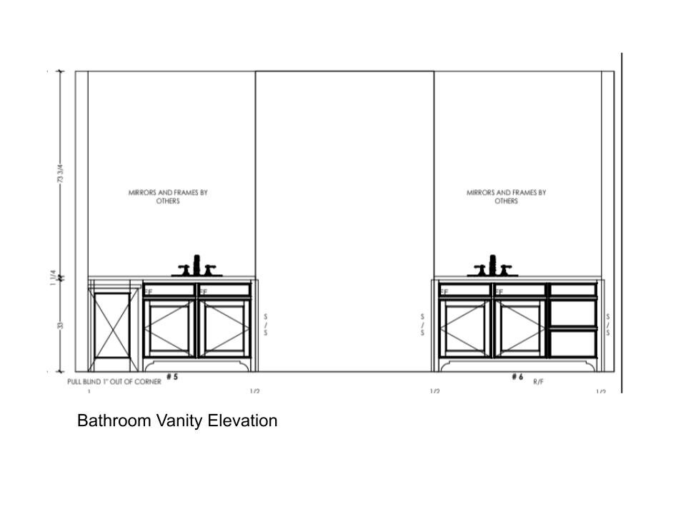 Bathroom Design Quick Tip Where To Place The Mirror When Your Sink Is Off Center Designed