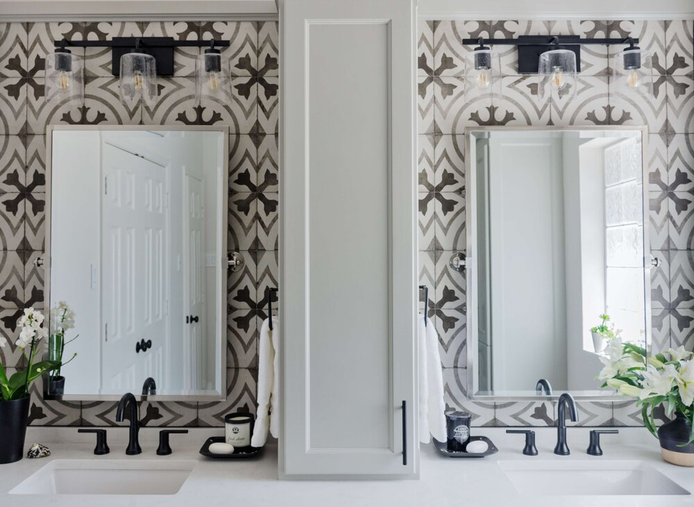 """A previous bathroom remodel project where the """"Before"""" pic looks just like another bathroom I'm consulting on. Carla Aston, Designer 