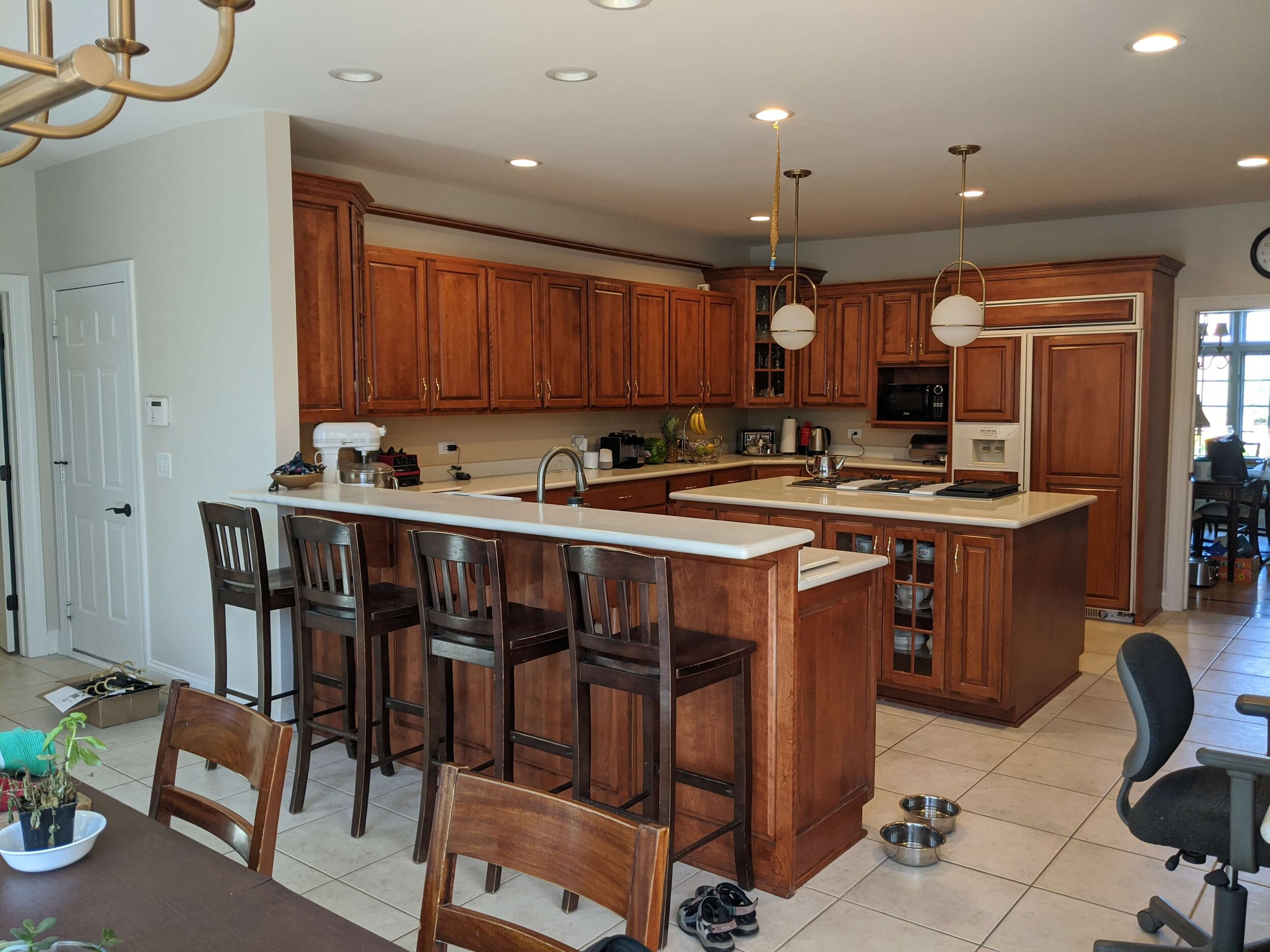 How To Update A Kitchen With Wood Cabinets [Without Painting Them ...