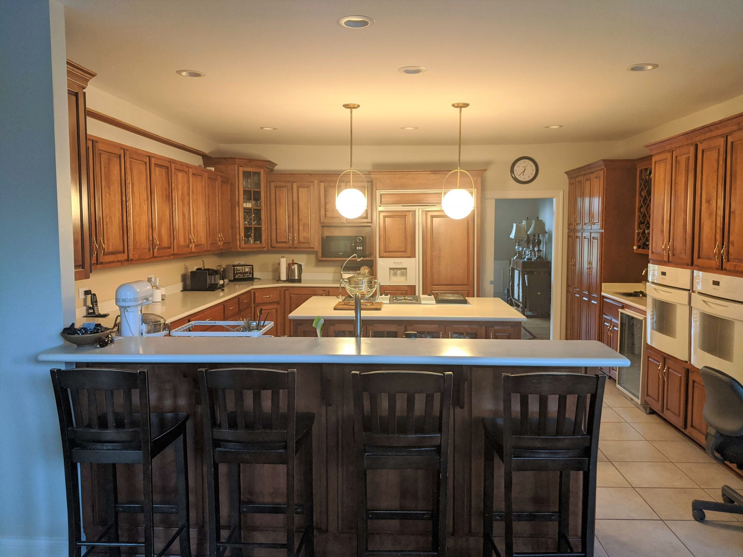 How To Update A Kitchen With Wood Cabinets Without Painting Them Designed