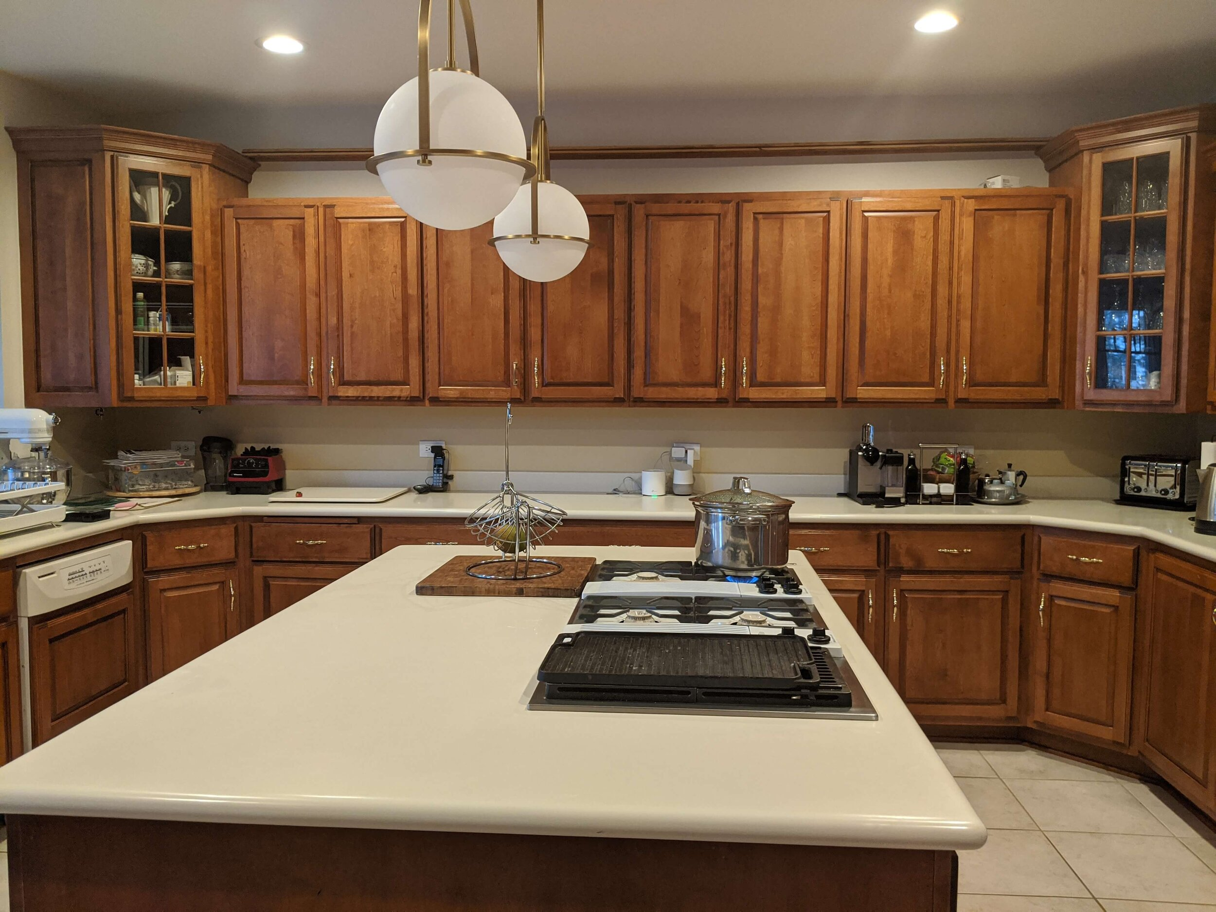 How To Update A Kitchen With Wood Cabinets [Without ...