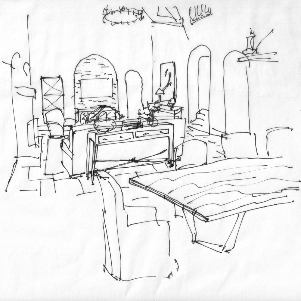 Living Dining Room Sketch