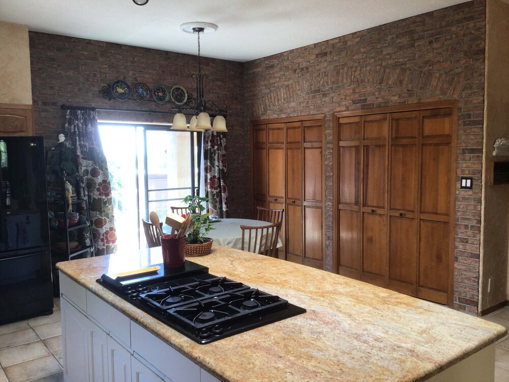 Kitchen to be partially remodeled in an updated, sophisticated, southwestern style. carlaaston.com