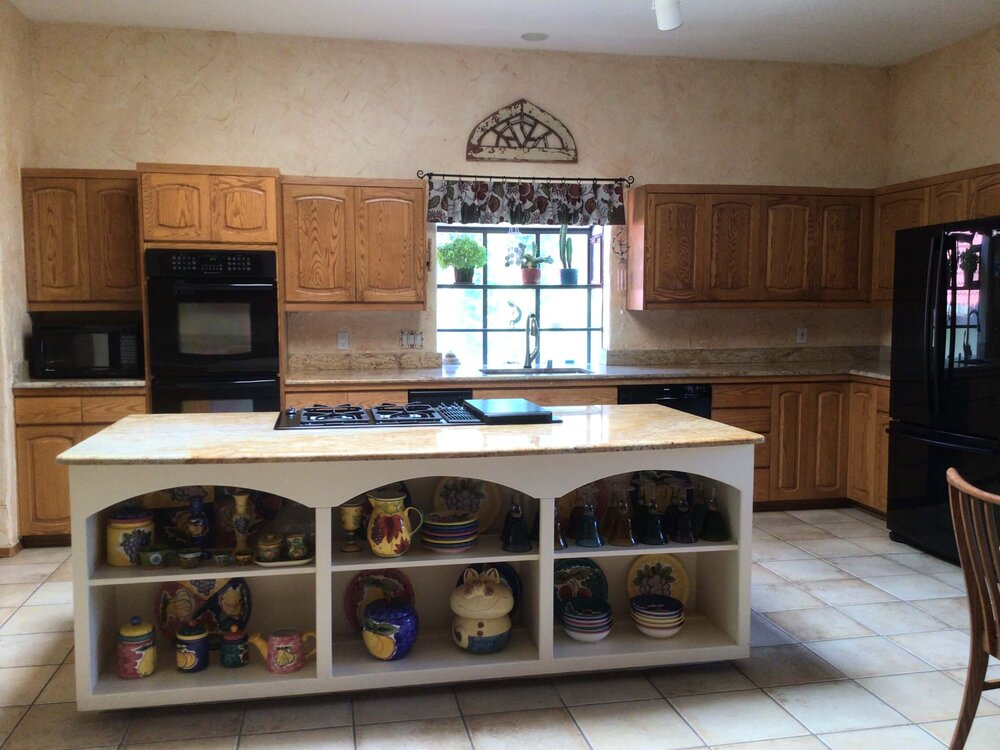 Kitchen to be remodeled in a sophisticated southwestern style. carlaaston.com