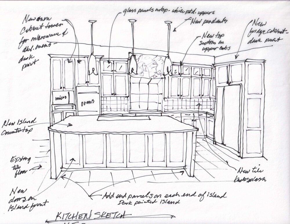 Kitchen design plan sketch - carlaaston.com