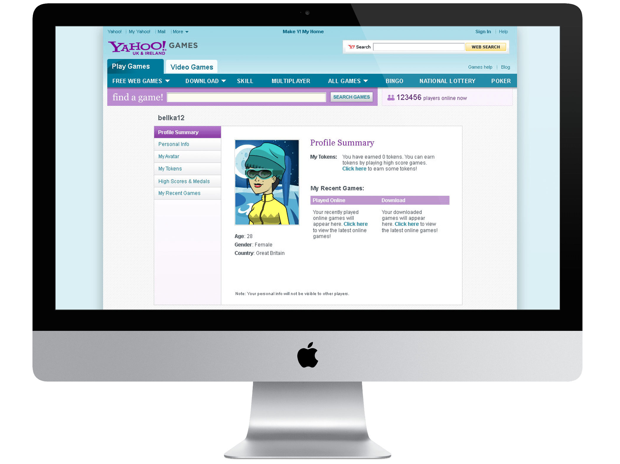 Yahoo UK Games \ Gamer Profile Page