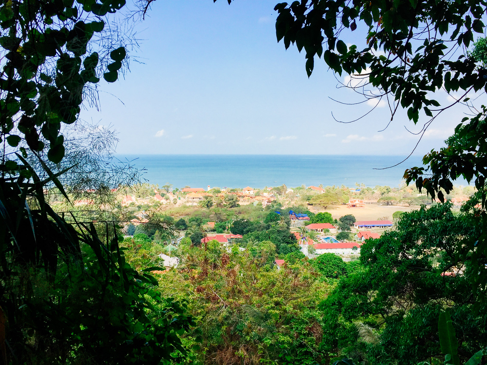 Driving up the road in Kep National Park