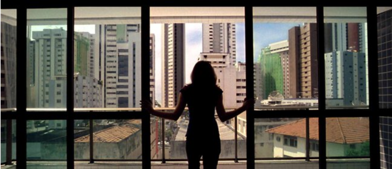 "The high-rises of Recife provide a vista for ""Neighboring Sounds."""