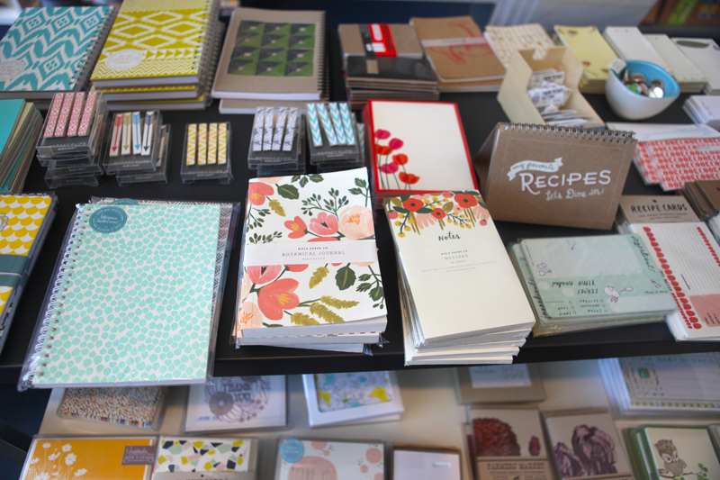 Lots of things for paper-lovers. Eye spy some Rifle Paper Co. notebooks: look for an interview with Anna Bond in the fall issue of UPPERCASE, out in October.