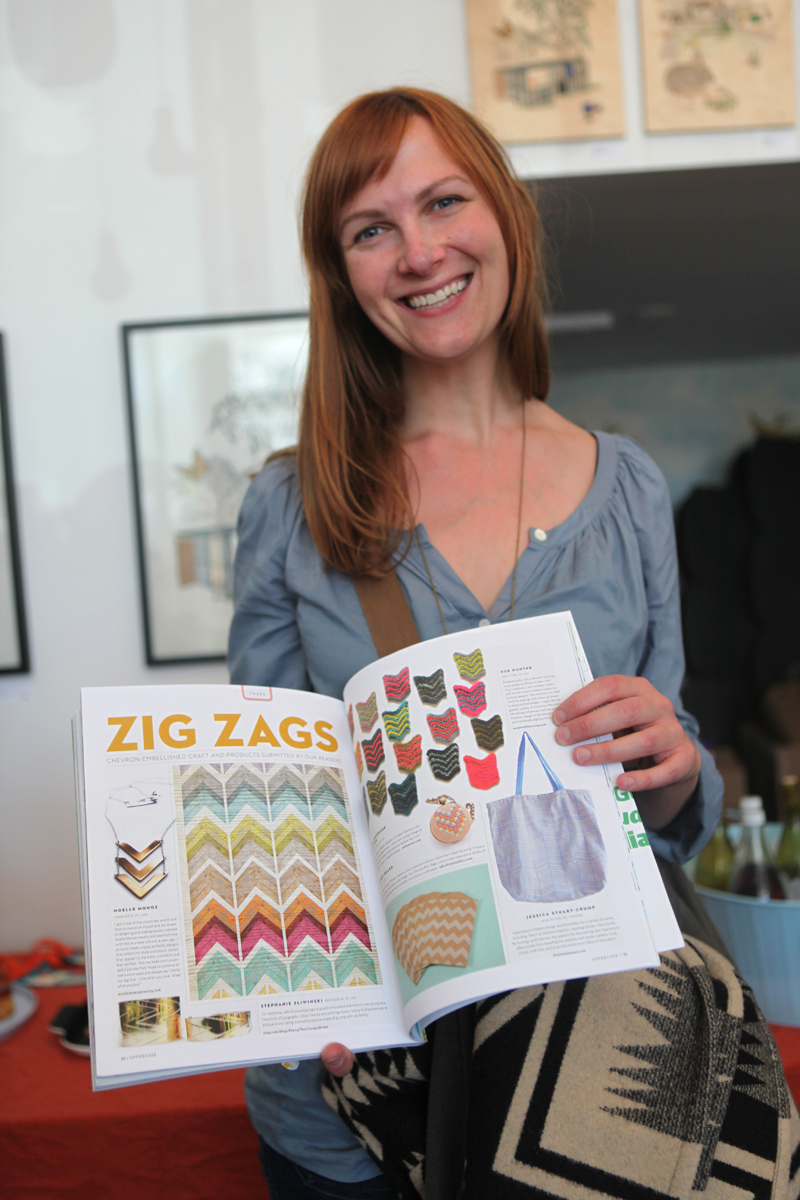 Lisa Shaffer of Zelma Rose Handmade Goods was there—her cross-stitched jewellery are featured in issue 14's zigzag trend page and also stocked in Rare Device.