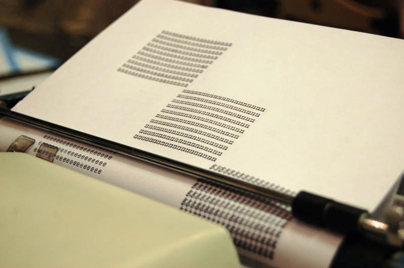 An image from a typewriter poetry event I attended a few years ago.