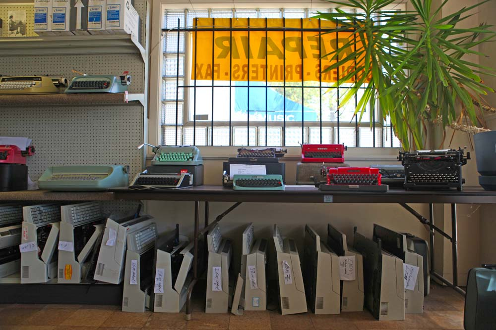 The owners know what sells, so they paint certain typewriters red!
