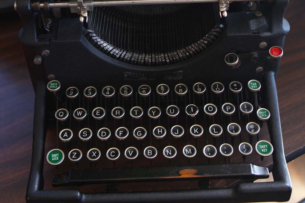 All of the typewriters have had their share of love—and neglect.