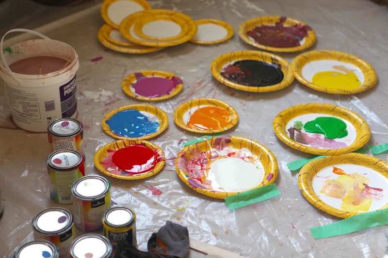 Paint spatter and dribbles are part of the process.