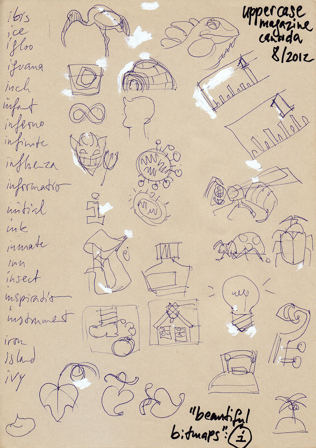 The initial concept sketches.