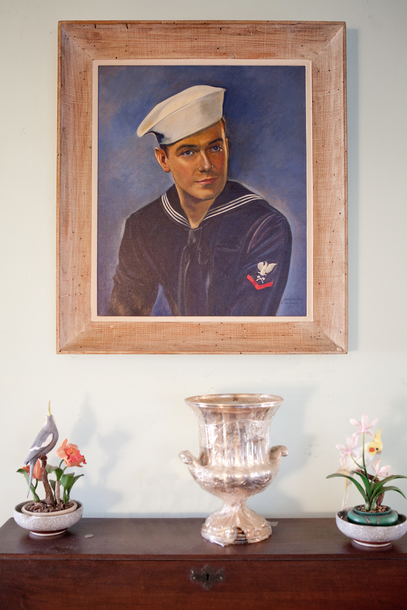 A self-portrait of James Gordon Irving from his days in the Navy.