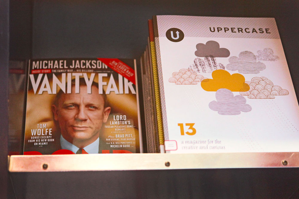 (I don't think we've ever been stacked next to Vanity Fair or James Bond before!)