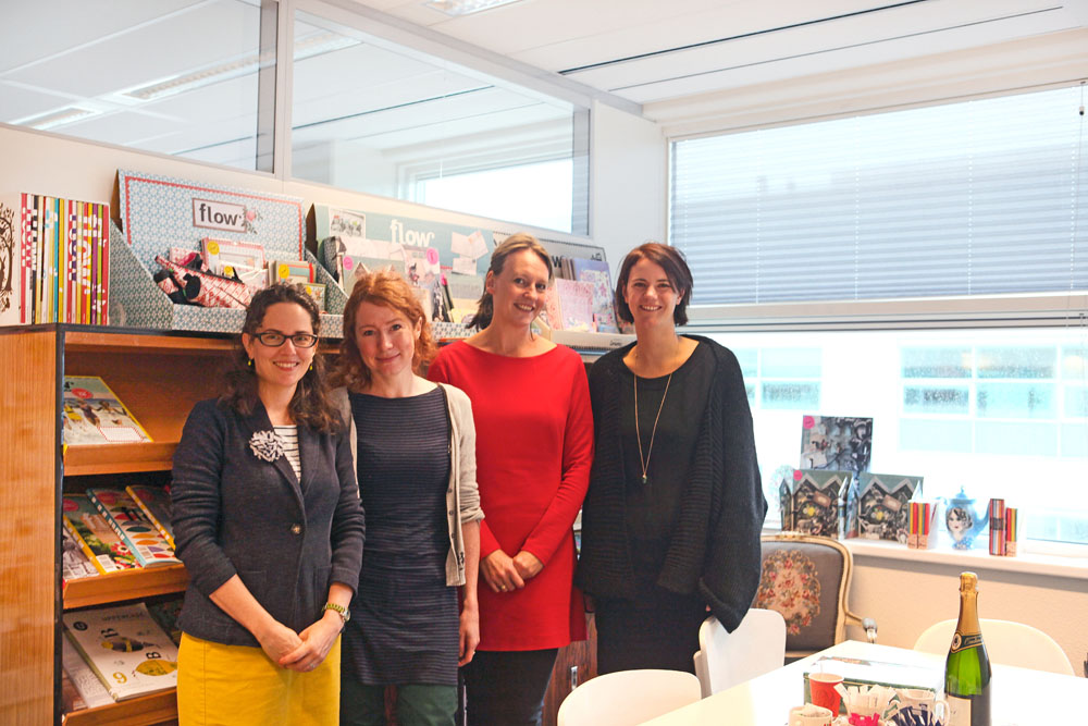 Me, Astrid, Irene and Jocelyn in the Flow office in Sanoma Media.