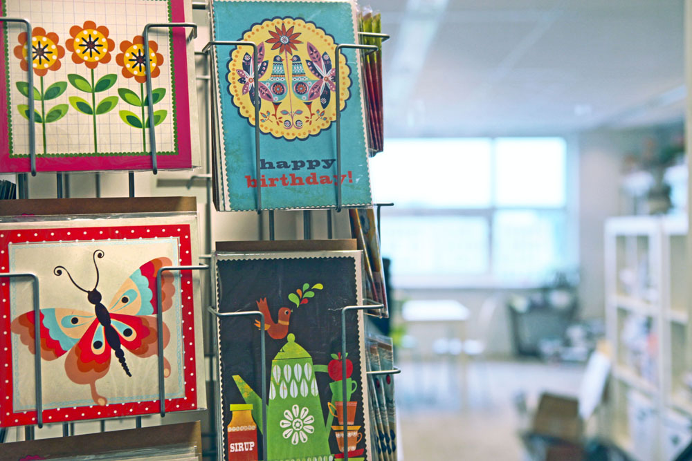 Flow also produces greeting cards and other paper goods.