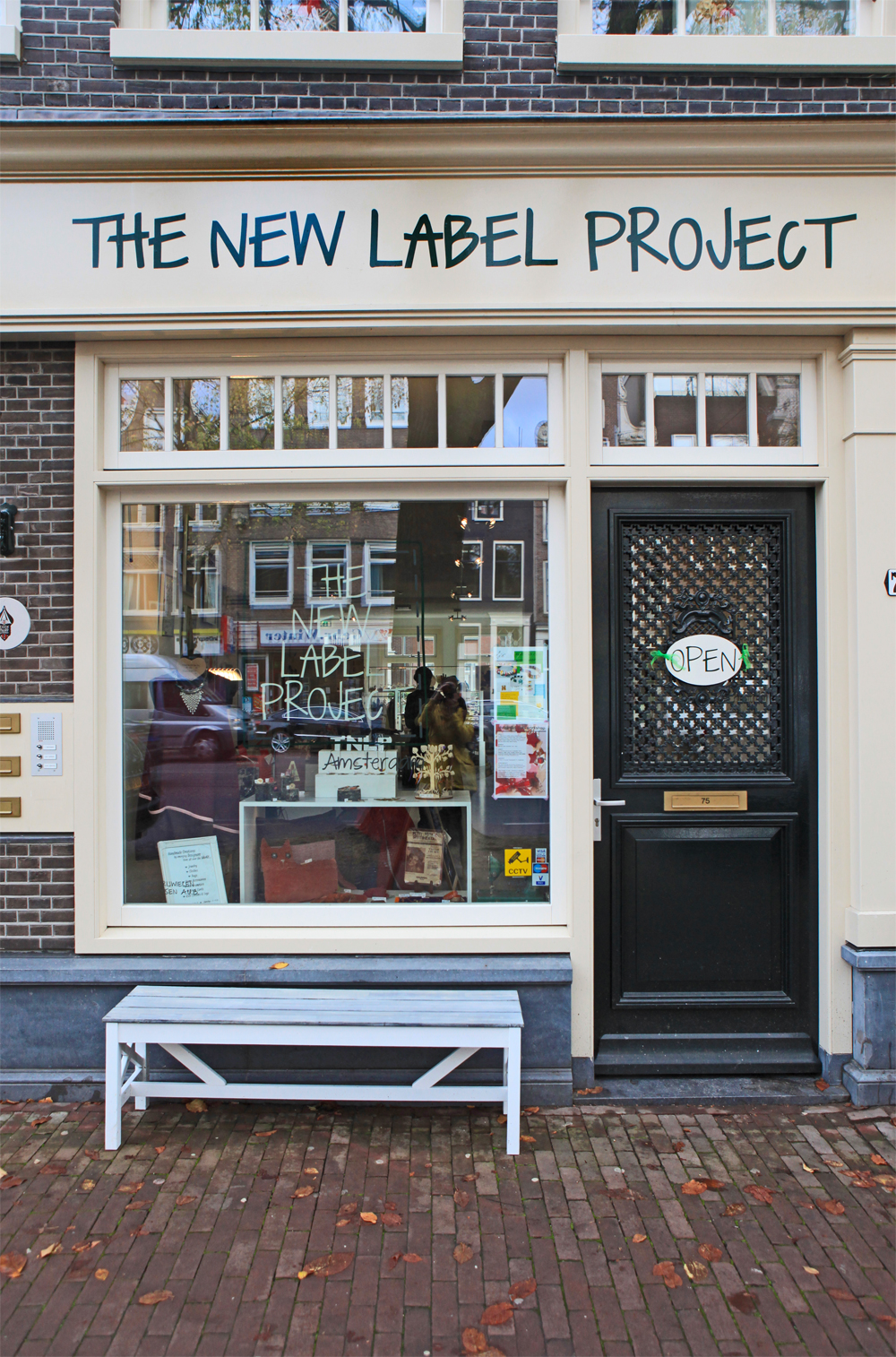 The New Label Project store at 75 Rozengracht, Amsterdam.