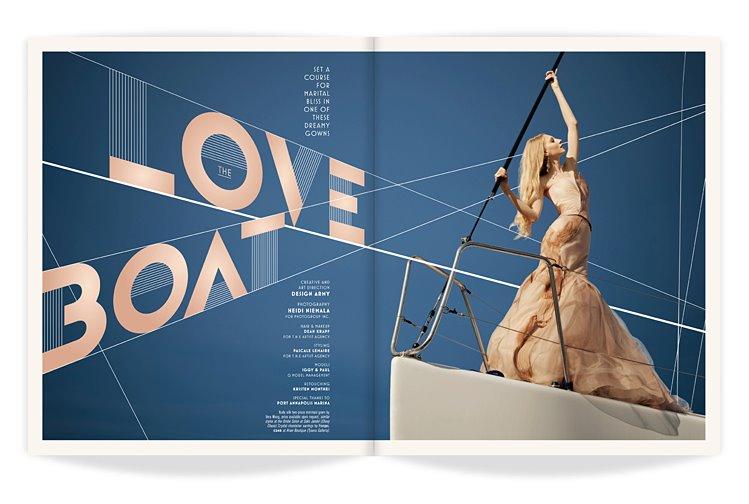 Washington Bride and Groom magazine spread.