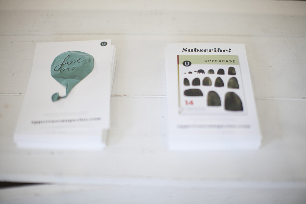 UPPERCASE subscription cards.