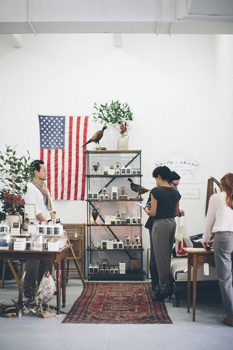 Support local business! Featured here is  Smith & Chang General Goods'  booth.